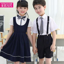 Children's performance clothing primary school students performance clothing dance skirt girls chorus group clothing boys bib summer