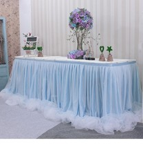 Wedding props background yarn mantle tablecloth sign cloth curtain table gauze dessert table skirt table skirt fluffy yarn tablecloth