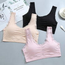 Mom bra underwear front buckle bra no rim large size middle-aged vest modal thin section of the elderly bra