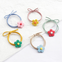 ins elegant Wind Flower tied hair band hair rope girl color tie hair band Hair Ring head hair accessories