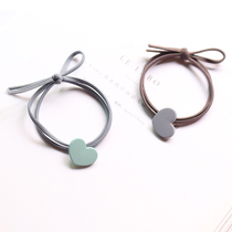 South Korea Small fresh and simple love tied ponytail band cute personality head rope hair ring leather hair accessories headdress