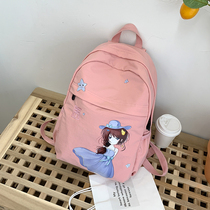 Small fresh ladies shoulder bag cute cartoon characters travel backpack Junior High School campus students school bag tide