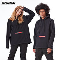 GS ski hoodie women's board double board ski sweater windproof waterproof winter warm ski couple models