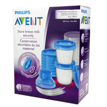 Philips Avent breast milk storage Cup set 180ml 10pcs installed bandwidth mouth converter SCF618 10
