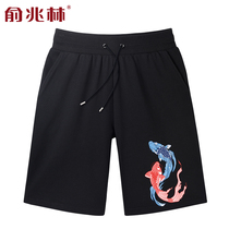 Chinese style personality printing shorts male summer Korean version of the trend of thin models hip-hop large size leisure sports pants
