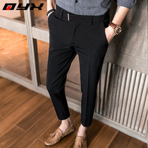 Autumn thin section business casual trousers Men Korean slim black pants pants pants pants pants tide