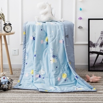 60S Satin cotton children summer cool by kindergarten baby cotton air conditioning by baby bed product nap thin quilt