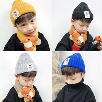 Childrens hat tide autumn and winter Boys Girls wool hat baby yangqi warm cap childrens Korean version of the cool knitted hat