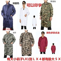 Anti-dirty clothes cover Adults mens anti-fouling long-sleeved coats overalls large protective clothing coat anti-dirty glitz increase