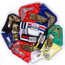 Sanda shorts men and women fighting professional training competition Thailand custom embroidery Muay Thai shorts men