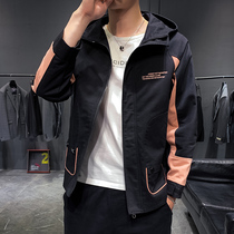Autumn jacket mens British style large size jacket youth mens slim hooded gown Korean Baseball clothes