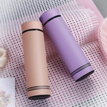 Stainless steel mug men and women students cups women Korean cute simple couple cups portable cups