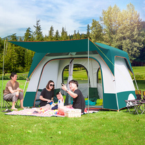 Donkey shield tent outdoor two rooms a Hall 3-4 people family thick rainproof 5-8 people more than the field camping tent