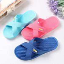 Every day special bathroom slippers female summer home shoes indoor non-slip cross-belt Inn Bathing Beach Hotel cool tow men