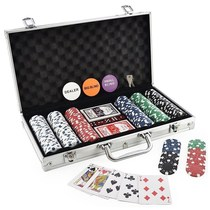 300 Chip Dice Style Poker Set Aluminum Case Taxas 筹码套装