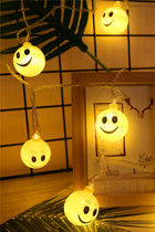 Beijing Dong led lights flashing lights string lights gypsophila Smiley star lights room bedroom decoration romantic proposal