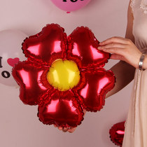 One edge of the five-petal flower aluminum film balloon flower-shaped balloon decoration wedding arrangement sun flower decoration arrangement
