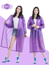 Rainy day to wear clothes windbreaker type adult rain jacket adult plastic transparent female Korean version of the Red fashion jacket