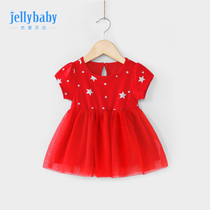 Baby skirt 2019 new foreign 0-3 years old baby summer short-sleeved princess skirt girl summer dress