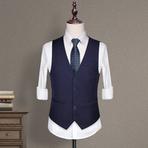 Mens suit vest vest autumn groomsmen clothing Brothers clothing clothing groom wedding dress casual suit vest