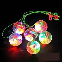 5 5CM luminous ball bullet crystal ball flash childrens toys with rope jump luminous ball toy stalls supply