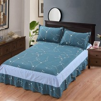 Bed fitted bed skirt 2-in-1 cotton bed skirt cover 1 8 M Cotton 1 5m single piece protective cover single 1 2m