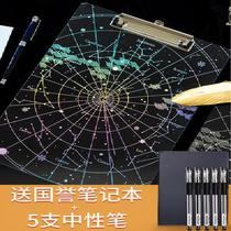 The shelf board clip with the exam constellation small fresh writing test paper clip creative stationery cute literary multi-function