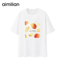 Fruit series) avocado green T-shirt female matcha green loose cotton short-sleeved 2019 new Summer Super fire CEC shirt