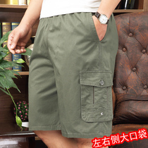 162526b2 Summer middle-aged five and a half pants cotton loose 40 years old 50 middle