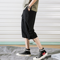 Shorts mens summer Korean version of the trend mens loose beach pants summer thin casual seven-fifths pants tide