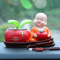 Car decoration solar little monk swing high-end car on the car decoration cute creative car interior decoration