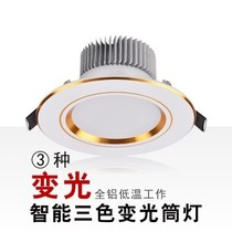 Simple ceiling entrance mall golden ceiling with lights black side home black and white living room white downlight round