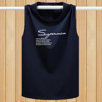 Summer thin section male cotton sleeveless T-shirt fat plus size loose sports basketball shirt shoulder breathable vest
