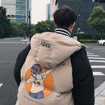 2018 Winter Chinese boy cotton clothes Mens coat Korean version of Youth bread suit hooded cotton jacket student clothing tide
