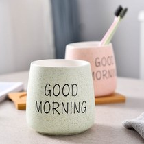 Wash mouth Cup set bathroom couple Korean ceramic toothbrush Cup brushing a pair of European-style home