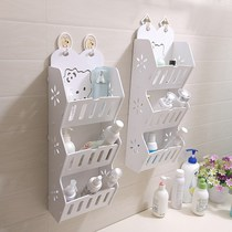 Bathroom bathroom wash countertop storage rack put comb toothbrush toothpaste cleanser desktop finishing storage box