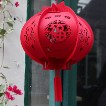 New Year Decoration Products Spring Festival non-woven red Lantern pendant Lantern Festival indoor outdoor layout pendant lantern