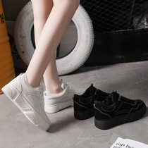 Small white shoes female autumn and winter 2018 New wild Korean net red thick bottom ins Street Clapper shoes casual sports shoes
