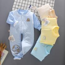 Baby Siamese clothes folder cotton 1 Spring 2 child 3 three 5 female baby spring four 4 months Male two months