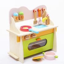 Childrens house simulation wooden toys 3-5-7 girl House Kitchen baby kitchen utensils set