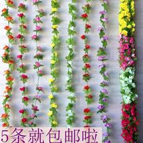 Lace leaves flower flower flower swatch flower rattan decoration winding set up the window tube grille classroom courtyard room