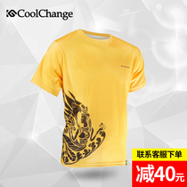 Cool change summer bike riding clothes men and women short-sleeved leisure riding clothes mountain bike tops bike cycling
