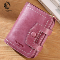 Elderly head ladies wallet female short paragraph leather wallet 2019 new leather multi-function wallet purse female small