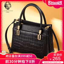 Elderly head leather crocodile pattern handbag bag female 2018 New simple high-capacity temperament shoulder mother bag female