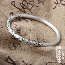 Bracelet ethnic style gold hoop silver bracelet opening to send men and women couple bracelet silver 999 gold hoop fine bracelet