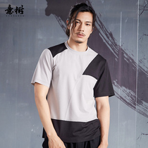 Italy tree original short-sleeved T-shirt male Chinese style round neck shirt youth models 2019 summer new hit color T-shirt