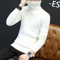 Autumn Winter 2018 new Korean version of the slimming mens turtleneck sweater male knitwear linens on the mens coat trend