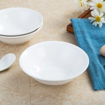 Restaurant hotel microwave oven ceramic bowl commercial Japanese salad bowl pure white rice bowl soup bowl noodle bowl