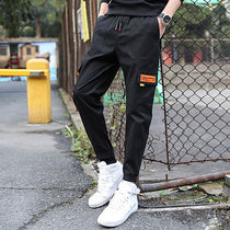 2019 new spring and autumn trend mens casual pants Youth Daily wild casual loose-beam feet overalls men