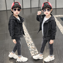 Boy jacket autumn 2019 new large children's jacket Korean spring and autumn children's clothing hooded jacket tide